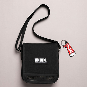 [UNIONOBJET] UNION COVER CROSS BAG BLACK