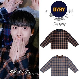 [DYBY] Unisex Wide Sleeve Wool Check MTM 2COLORS_KNK
