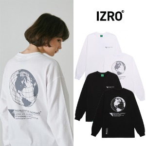 [IZRO] WORLD MAP LONG SLEEVE 2COLOR