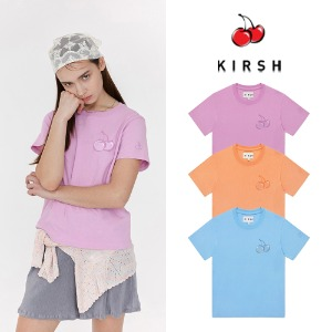 [KIRSH] TONE ON TONE MIDDLE CHERRY T-SHIRT JH 3COLOR