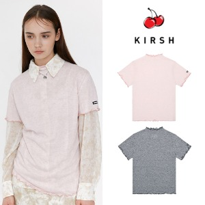 [KIRSH] KIRSH WAVE STITCH HALF-NECK T-SHIRT JH 2COLOR