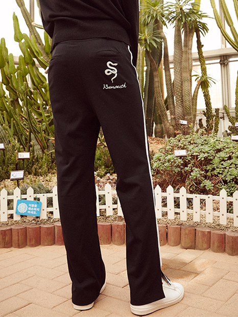 17ss white linning training pants