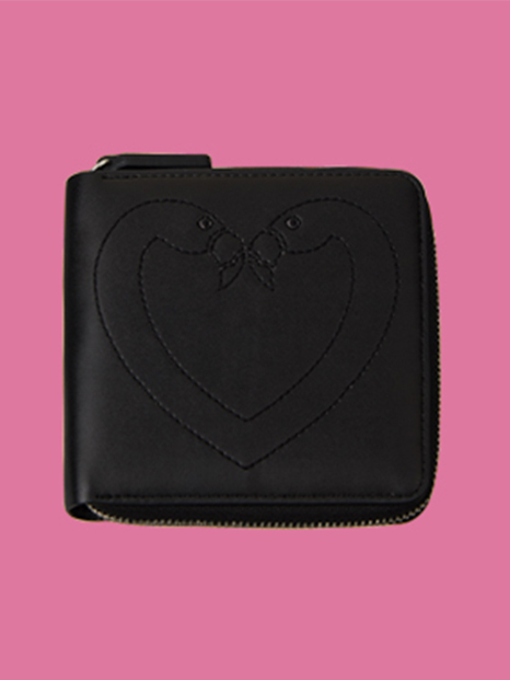 Klover Stitch Wallet Black