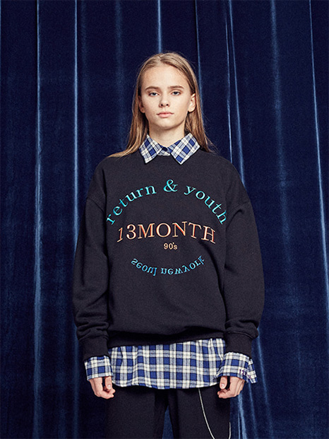 [13month]RETURN AND YOUTH SWEATSHIRT (BLACK)