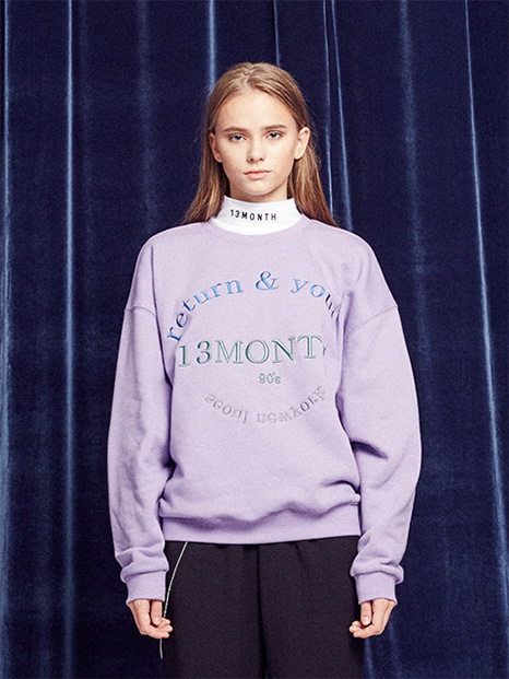 [13month]RETURN AND YOUTH SWEATSHIRT (LAVENDER)