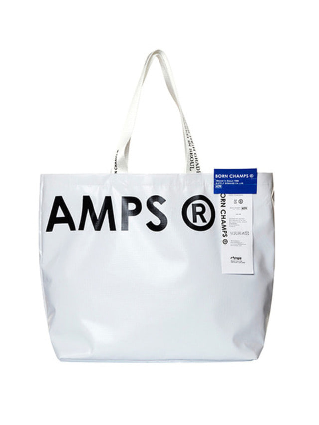 [BORN CHAMPS]BC SHOPPER BAG WHITE CERFMBG04WH