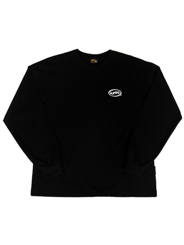 [A PIECE OF CAKE]Oval Logo Longsleeved T-shirts_Black