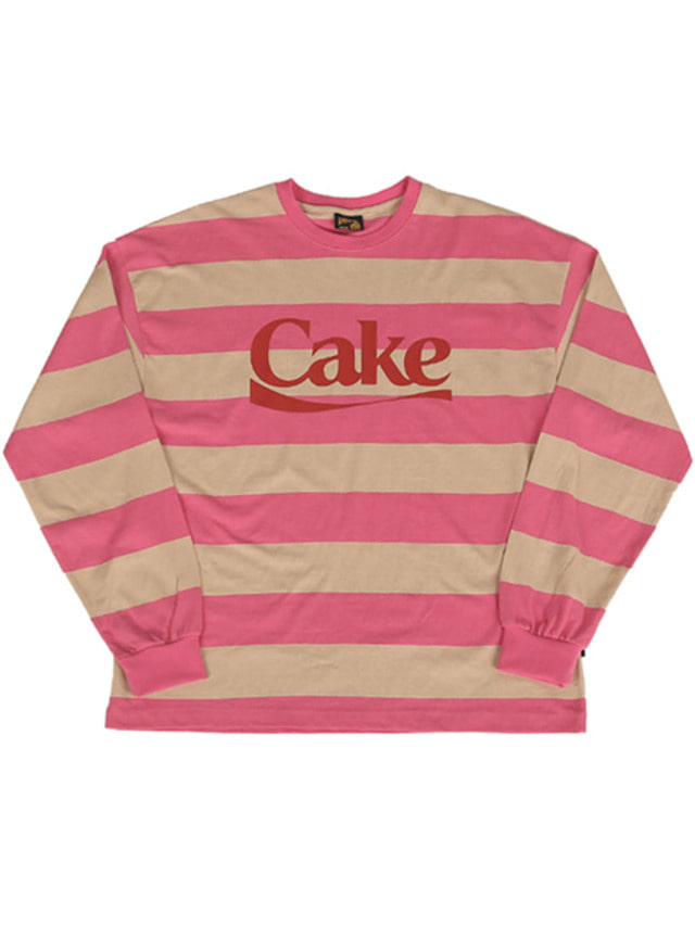 [A PIECE OF CAKE]Cake Stripe Longsleeved T-shirts_Pink