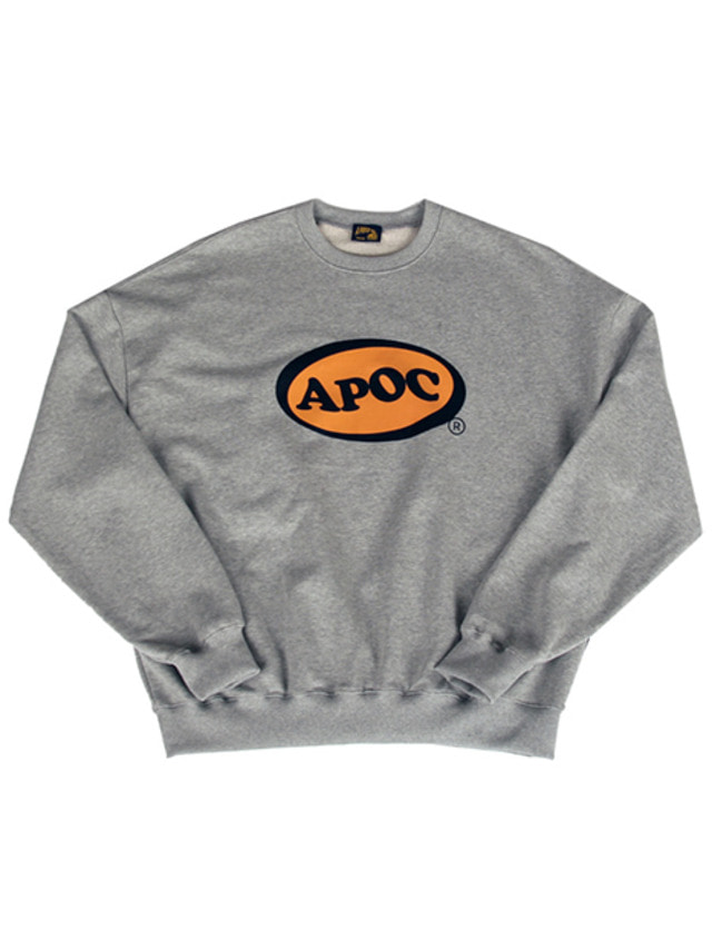 [A PIECE OF CAKE]Oval Logo Crewneck_Gray