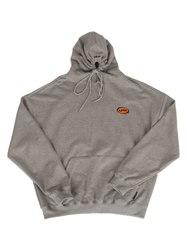 [A PIECE OF CAKE]Oval Logo Hoodie_Gray