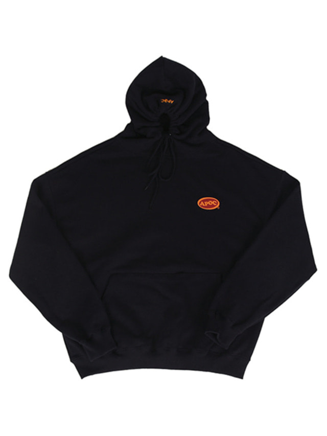 [A PIECE OF CAKE]Oval Logo Hoodie_Navy