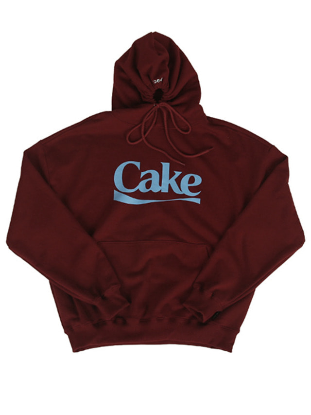 [A PIECE OF CAKE]Cake Logo Hoodie_Maroon