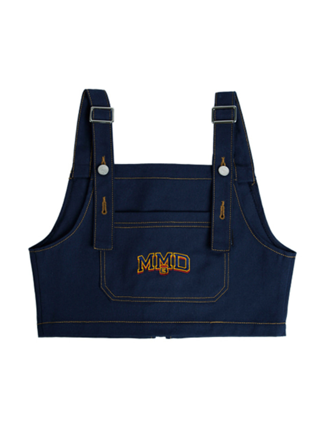 [ROMANTICCROWN] MMD OVERALL TOP NAVY