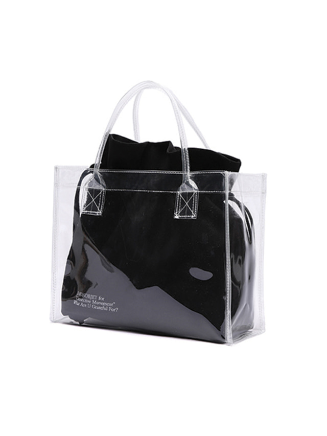 [UNIONOBJET]UNIONOBJET CLEAR BAG BLACK