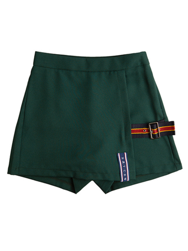 [ROMANTICCROWN] LAP SKIRT PANTS GREEN