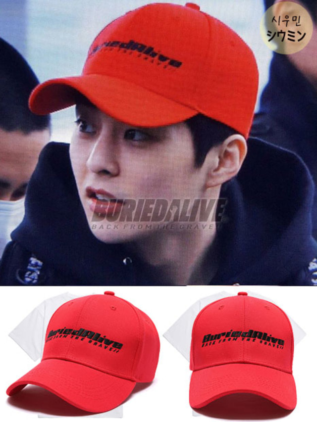 [EXO ITEM]BA ALIVE LOGO CAP RED