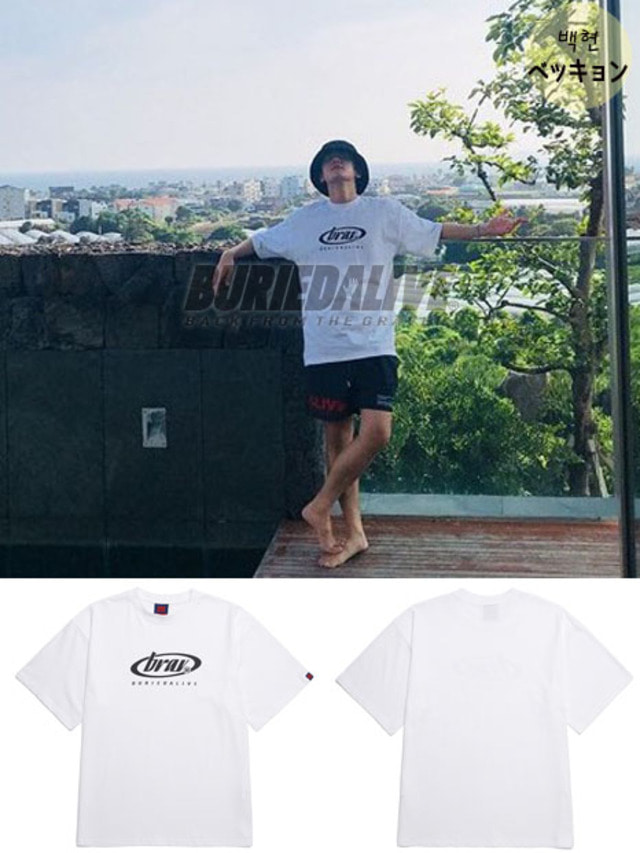 [EXO ITEM]BA CIRCLE LOGO TEE WHITE