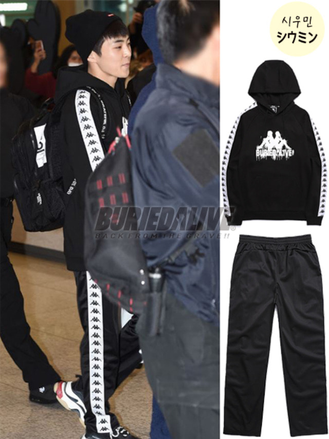 [EXO ITEM]BA X KAPPA FLEECE XIUMIN SET