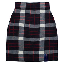 [ROMANTICCROWN WOMAN] TARTAN CHECK KNIT SKIRT NAVY
