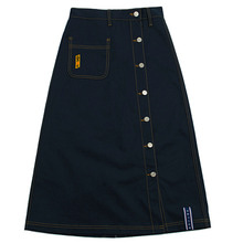 [ROMANTICCROWN WOMAN] FRONT POCKET COTTON SKIRT NAVY