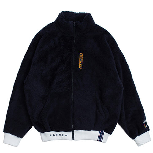 [ROMANTICCROWN] YETI ZIP UP JAKET NAVY_REDVELVET