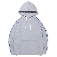 [BORNCHAMPS] BC NEW TAPE LOGO HOODY GREY CERAMHD02GY
