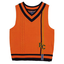 [ROMANTICCROWN] RC DOUBLE LINE VEST ORANGE