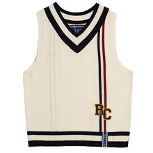 [ROMANTICCROWN] RC DOUBLE LINE VEST OATMEAL