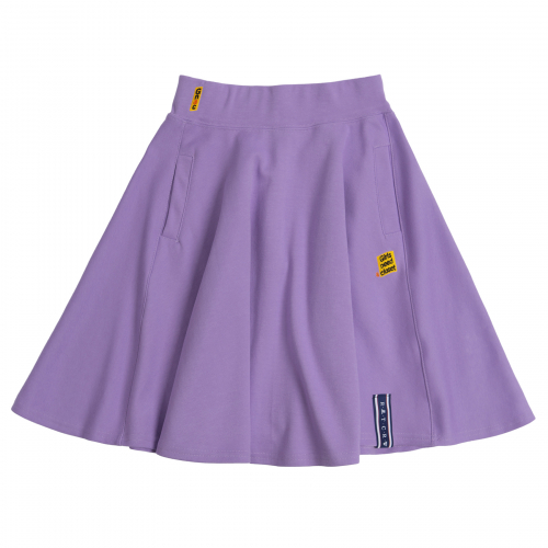 [ROMANTICCROWN WOMAN] MID LINE FLARE SKIRT PURPLE