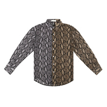 [13MONTH] PYTHON SKIN LONG SLEEVE SHIRT GRAY