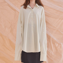 [13MONTH] OVERSIZE SOLID LONG SLEEVE SHIRT IVORY