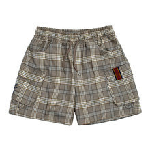 [ROMANTICCROWN] E.D.V SHORT CHECK PANTS GREY