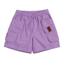 [ROMANTICCROWN] E.D.V CARGO SHORT PANTS PURPLE