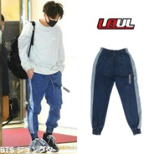 [LAUL] SIDE LINE DENIM JORGGER PANTS_BTS