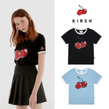 [KIRSH] BIG CHERRY GLITTER RINGER TEE IH 2COLOR