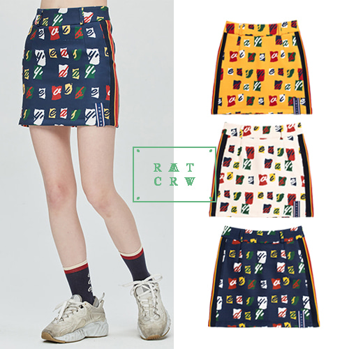 [ROMANTICCROWN WOMAN] E.D.V BAND LINE SKIRT 3COLOR