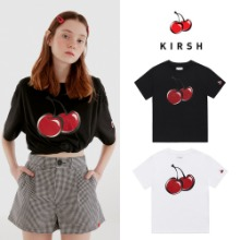 [KIRSH] BIG CHERRY GLITTER T-SHIRT IH 2COLOR