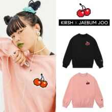 [KIRSH X JAEBUM JOO] PIXEL CHERRY SWEATSHIRT 2COLOR