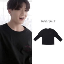 9/11予約発送[D.PRIQUE] OVERSIZED LAYERED T-SHIRT BLACK_BTS