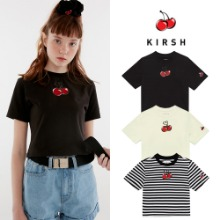 [KIRSH] HEART CHERRY CROPPED T-SHIRT IH 3COLOR