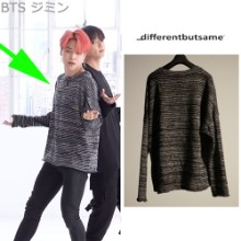 [9/18予約発送][DIFFERENTBUTSAME] EMROIDERY KNIT_BTS