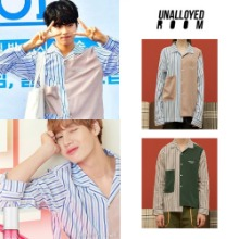 [UNALLOYED] MIXED STRIPE SHIRT 2COLOR_ハソンウン/PRODUCE X 101