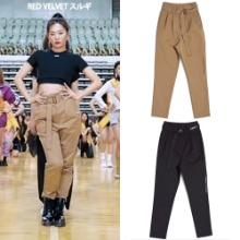 [HYBERNAT] TYPO BELTED SLACKS 2COLOR_REDVELVET