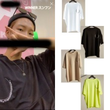 [DIFFERENTBUTSAME] CIRCLE EMBROIDERY TSHIRTS 4COLOR_WINNER