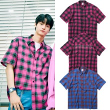 [MAHAGRID] OUTLINE SS CHECK SHIRT 2COLOR_PRODUCEX101