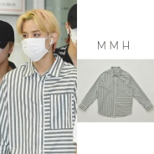 [MMH] BOLD STRIPE COTTON SHIRT KHAKI_NCT