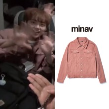 [MINAV] BASIC COTTON TRUCKER JACKET INDIPINK_X1
