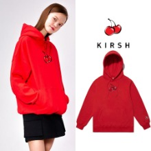 [KIRSH] MIDDLE CHERRY HOODIE IS RED