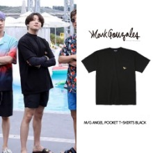 [MARKGONZALES] M/G ANGEL POCKET T-SHIRT BLACK_BTS