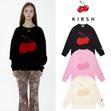 [KIRSH] CHERRY TONE ON TONE ROUND NECK KNIT IA 3COLOR